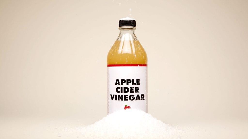 лечение на пърхот с ябълков оцет