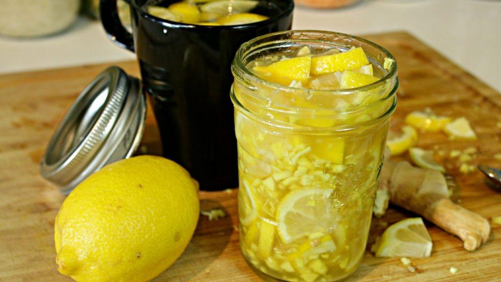 Джинджифил-с-мед-и-лимон-за-грип-и-отслабване